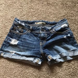 BKE denim shorts